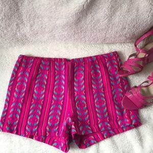 Bethany Mota Aeropostale pink tribal design shorts